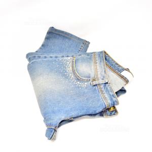 Jeans Donna Siviglia Tg. 27 Con Strass
