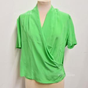 Maglia Donna Pura Seta Verde Tg.L S