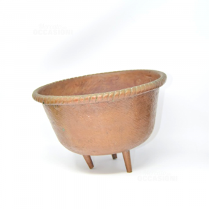 Copper Vase Flower Stand With 3 Legs Diameter 26 Cm Hand Made Italy