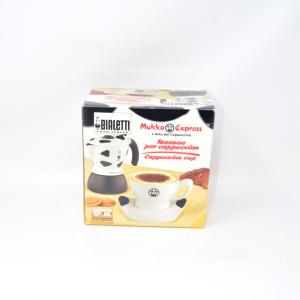 Bialetti N. 990 Tazza da cappuccino 400 ml con logo Mukka Nuova 2 Pezzi