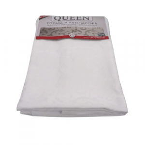 Tovaglia Queen Jacquard bianca 140x180