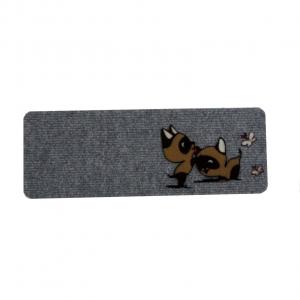 Zerbino tappeto 27x70 gattini giocosi fondo grigio