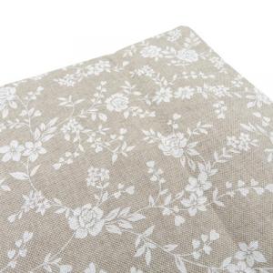 Tovaglia miros 140x300 fiori bianchi tessuto resistente