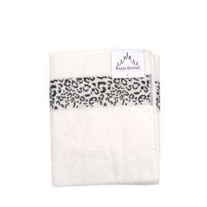 Telo asciuga corpo cotone 100x150 bianco Animalier