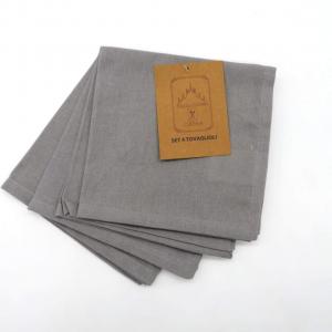 Confezione 4 tovaglioli cotone grigio