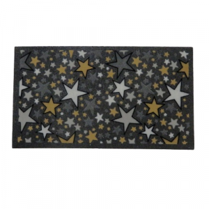 Zerbino tappeto 40x70 stelle  gomma riciclata