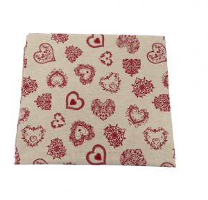 Tovaglia Miros 140x300 cuori rossi tessuto resistente