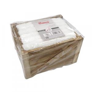 Confezione 6 lavette bianche 30x30