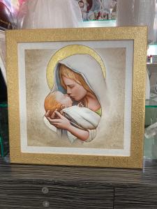 Quadro Maternità Leader Argenti con dettagli in argento dorato cod. 12.0285