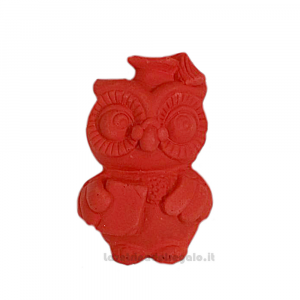 Gessetto Gufo rosso 5 cm - Decorazioni laurea