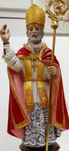 Statua Made in Italy  San Valentino Vescovo e Martire cm. 23 in marmo-resina