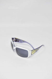 Occhiali Da Sole Nuovi Assoluto Made In Italy Modello 1322 Cerchio Bianco