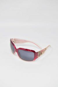 Occhiali Da Sole Nuovi Assoluto Made In Italy Modello 1322 Cerchio Rosso