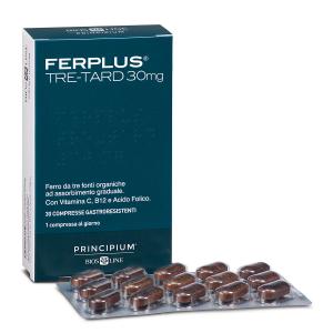 Principium FerPlus Tre-Tard 30mg integratore di ferro in compresse a tre strati
