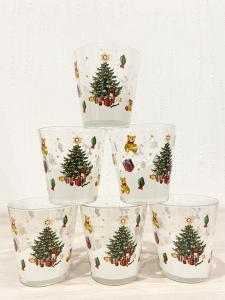 Bicchieri decorativi natalizi
