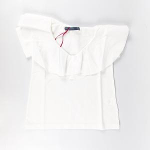 T-shirt collo volant
