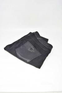 Pantalone Donna Guess Effetto Pitonato Neri Tg.29