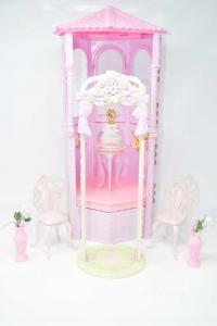 Gioco Barbie Torre Cerimonia Rosa Altezza 50 Cm Con Accessori