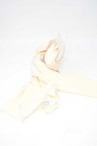 Foulard Uomo In Pura Seta Bianco Panna
