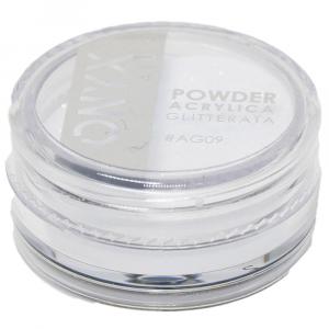 Polvere Acrilica Glitterata OnyxNail - COLORE #AG09 - Colore : Bianco Glitter