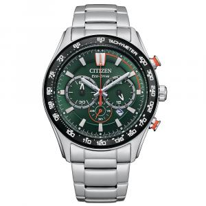 Citizen Crono Sport Cassa acciaio, quadrante verde