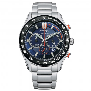Citizen Crono Sport Cassa acciaio, quadrante blu