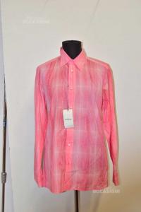 Shirt Man Pink Richmond Size 50 Ckeckered