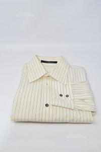 Shirt Man Panna Richmond Size 50 Striped