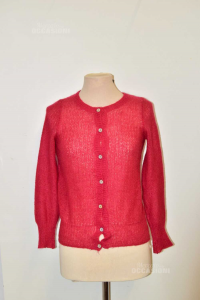 Cardigan Womanxextra Size .xs Red In Wool
