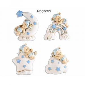 Magnete baby orsetto in resina azzurra con calamita