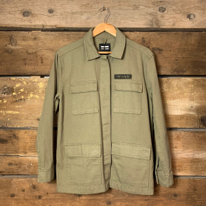 Giacca Dr.Denim Sahariana in Jeans Verde Militare