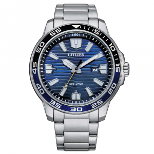 Citizen Marine Sport cassa acciaio, quadrante blu