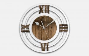 Orologio da parete in legno anticato