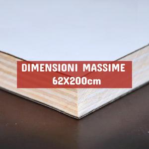 Tavola Multistrato Bilaminato Bianco Opaco - DIMENSIONI: 62X200cm - Spessore 18mm - Scegli tu le misure!