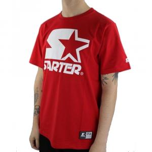 Starter T Shirt Logo Rossa da Uomo