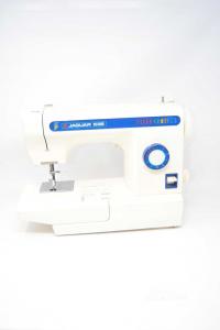 Sewing Machine Jaguar White With Pedalino