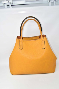 Borsa Donna In Ecopelle Color Ocra