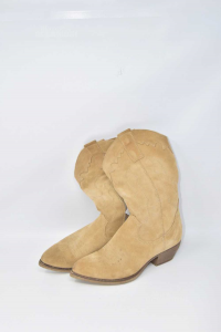 Ankle Boot Woman Beige N°.38 Style Country