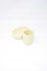 Set Bathroom Ceramic 2 Pieces Sicart