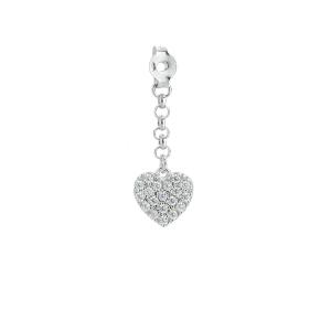 Pendenti per orecchini perno farfalla con cuore in argento 925 ZPD116/CUB-LB