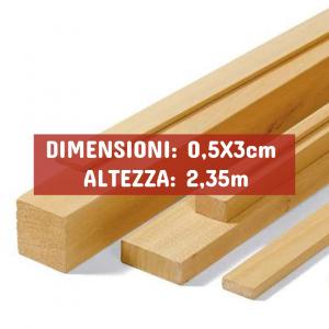 Listello Ayous Piallato - DIMENSIONI: 0,5X3cm - Altezza: 2,35mt