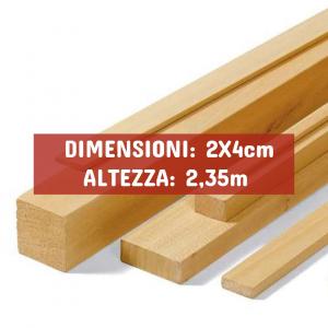 Listello Ayous Piallato - DIMENSIONI: 2X4cm - Altezza: 2,35mt