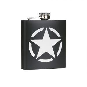 Fiaschetta acciaio inossidabile 6 oz US Army Star