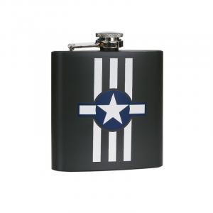 Fiaschetta acciaio inossidabile 6 oz USAF Invasion Stripes
