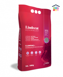 LindoCat | ADVANCED CLUMPING + LAVIOSA - Lettiera mirco-agglomerante per Gatti - Profumo Talco / 10 L