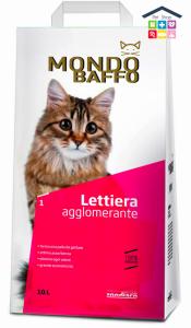 Mondo Baffo | Lettiera agglomerante per Gatti - 100% Betonite / 10 L non profumata
