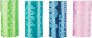 TRIXIE | Rotolo per la raccolta delle feci / confezione da 8 (per ogni rotolo 20 strappi) COLORATO)