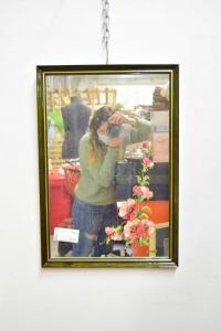 Specchio Con Fiori Dipinti