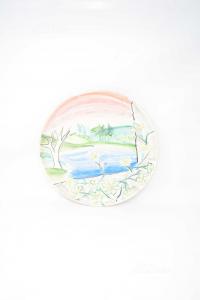 Piatto Ceramica Da Appendere Dipinto A Mano 32 Cm