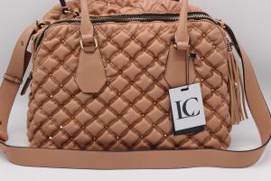 LA CARRIE Tinette Big Handle Bag Syntetic Old Pink